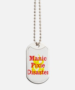 Manic Pixie Disaster Dog Tags