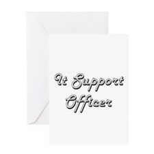 It Support Officer Classic Job Desi Greeting Cards