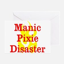 Manic Pixie Disaster Greeting Cards