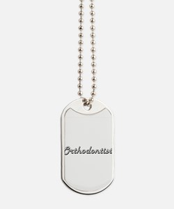 Orthodontist Classic Job Design Dog Tags