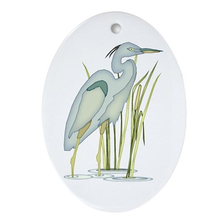 Heron Ornament (Oval)