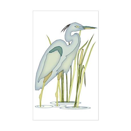 Heron Sticker (Rectangle)