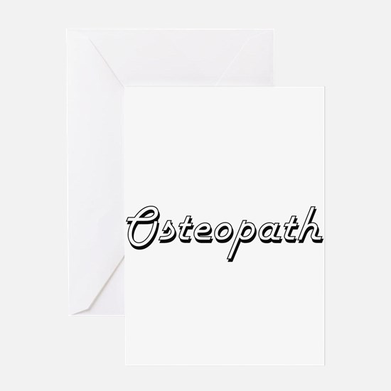 Osteopath Classic Job Design Greeting Cards