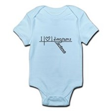 I Heart Sentence Diagrams Baby Body Suit