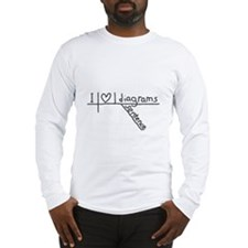 I Heart Sentence Diagrams Long Sleeve T-Shirt