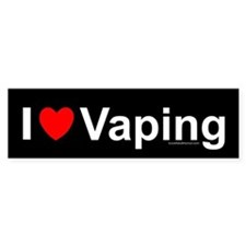 Vaping Bumper Sticker