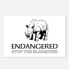 Endangered Rhino Postcards (Package of 8)