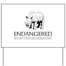 Endangered Rhino Yard Sign