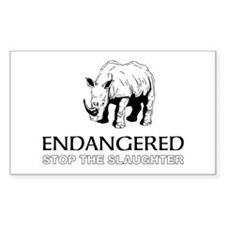 Endangered Rhino Decal