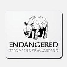 Endangered Rhino Mousepad