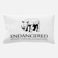 Endangered Rhino Pillow Case
