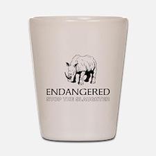 Endangered Rhino Shot Glass