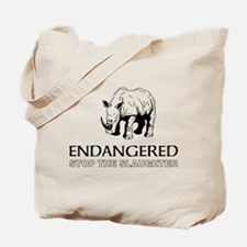 Endangered Rhino Tote Bag