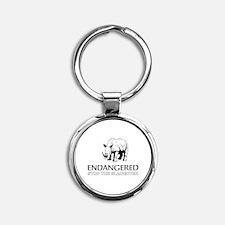 Endangered Rhino Keychains