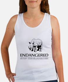 Endangered Rhino Tank Top