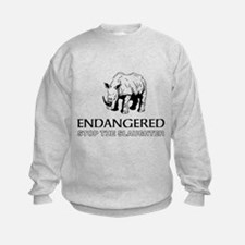 Endangered Rhino Sweatshirt
