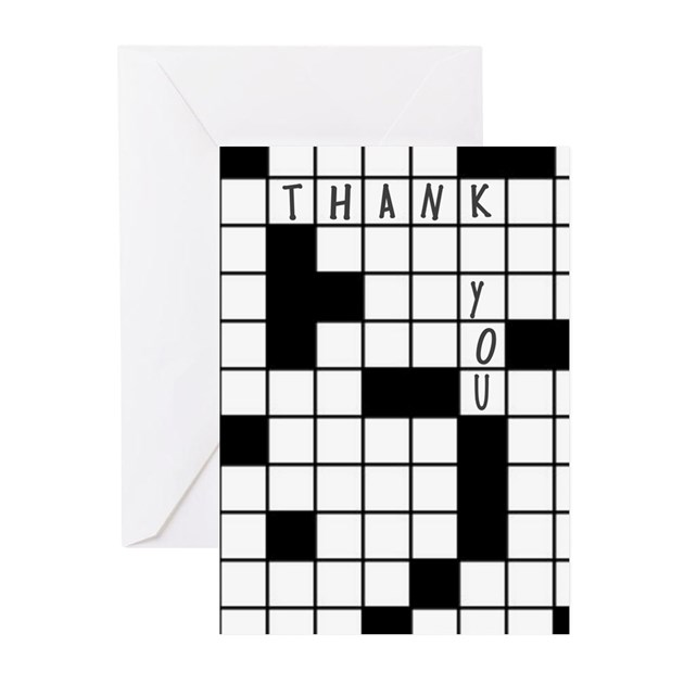 Crossword Puzzle Thank You Greeting Cards 20 Pk By