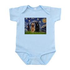 Starry Night & Briard Pair Infant Creeper