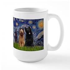 Starry Night & Briard Pair Mug