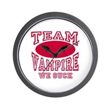 Team Vampire We Suck Wall Clock