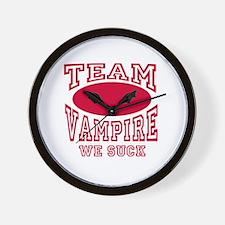 Team Vampire We Suck Wall Clock