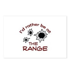 RATHER BE AT THE RANGE Postcards (Package of 8)