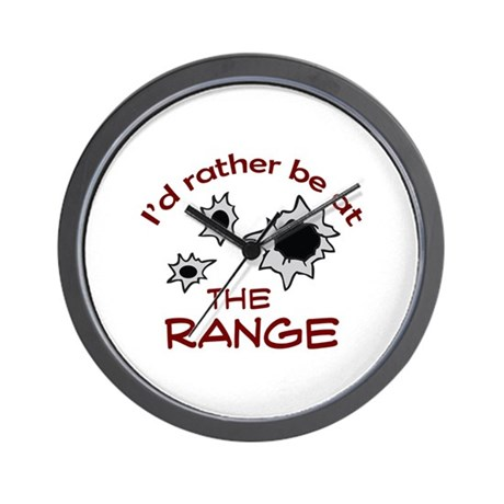rather be at the range wall clock by greatnotions29. Black Bedroom Furniture Sets. Home Design Ideas