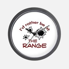 RATHER BE AT THE RANGE Wall Clock
