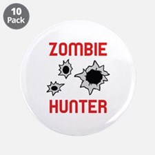 "ZOMBIE HUNTER 3.5"" Button (10 pack)"