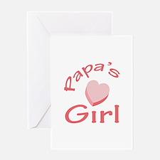 PAPAS GIRL Greeting Cards