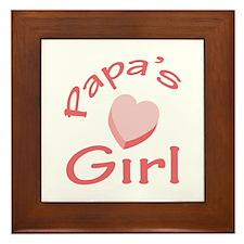 PAPAS GIRL Framed Tile