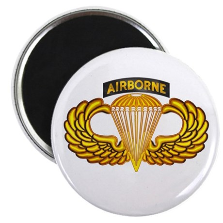 """Airborne w/wings 2.25"""" Magnet (10 pack)"""