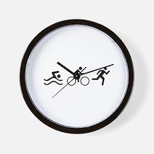 TRIATHLON LOGO Wall Clock