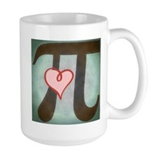 Pi Love Large Mugs