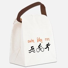 SWIM BIKE RUN Canvas Lunch Bag