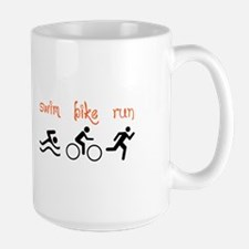 SWIM BIKE RUN Mugs
