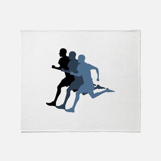 MALE RUNNER Throw Blanket