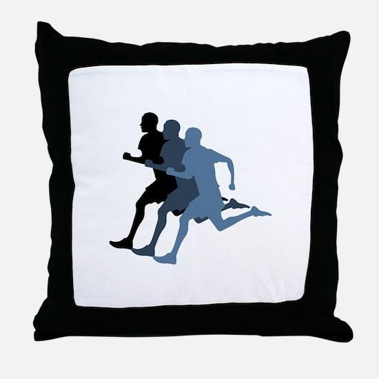 MALE RUNNER Throw Pillow