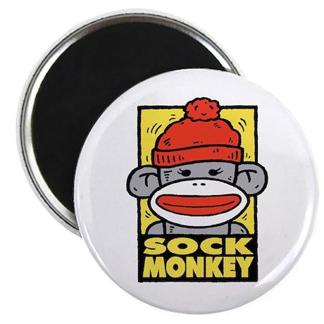 """Sock Monkey 2.25"""" Magnet (10 pack)"""