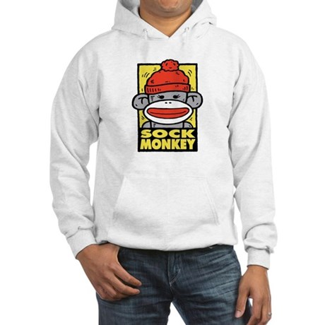 Sock Monkey Hooded Sweatshirt