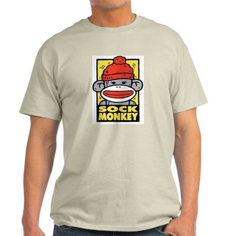 Sock Monkey Ash Grey T-Shirt