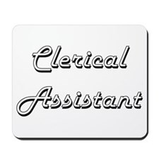 Clerical Assistant Classic Job Design Mousepad