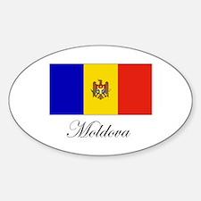 Moldova - Flag Oval Decal