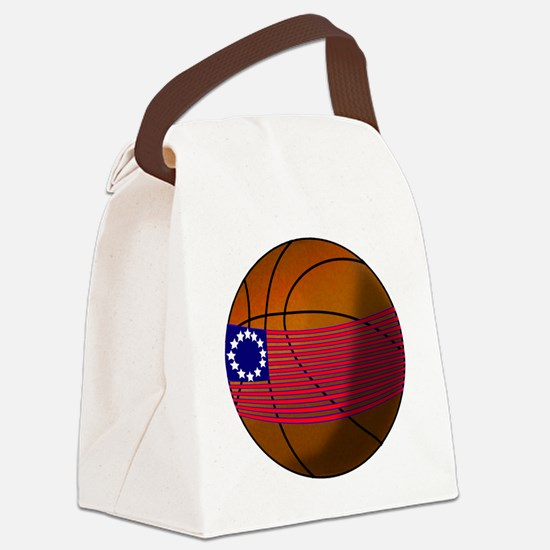 Cute Basketbal Canvas Lunch Bag