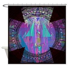 Abstract Cross Art Shower Curtain