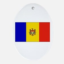 Moldova Flag Oval Ornament