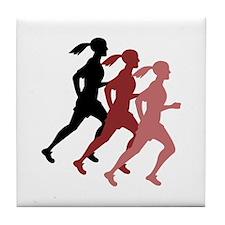 FEMALE RUNNER Tile Coaster