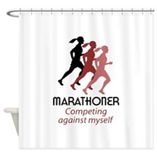 MARATHONER Shower Curtain