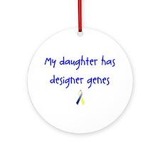 Designer Genes Daughter Ribbon Ornament (Round)