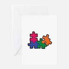 PUZZLE PIECES Greeting Cards